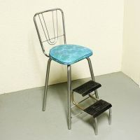 Vintage kitchen stool - step stool - stool - chair - fold ...