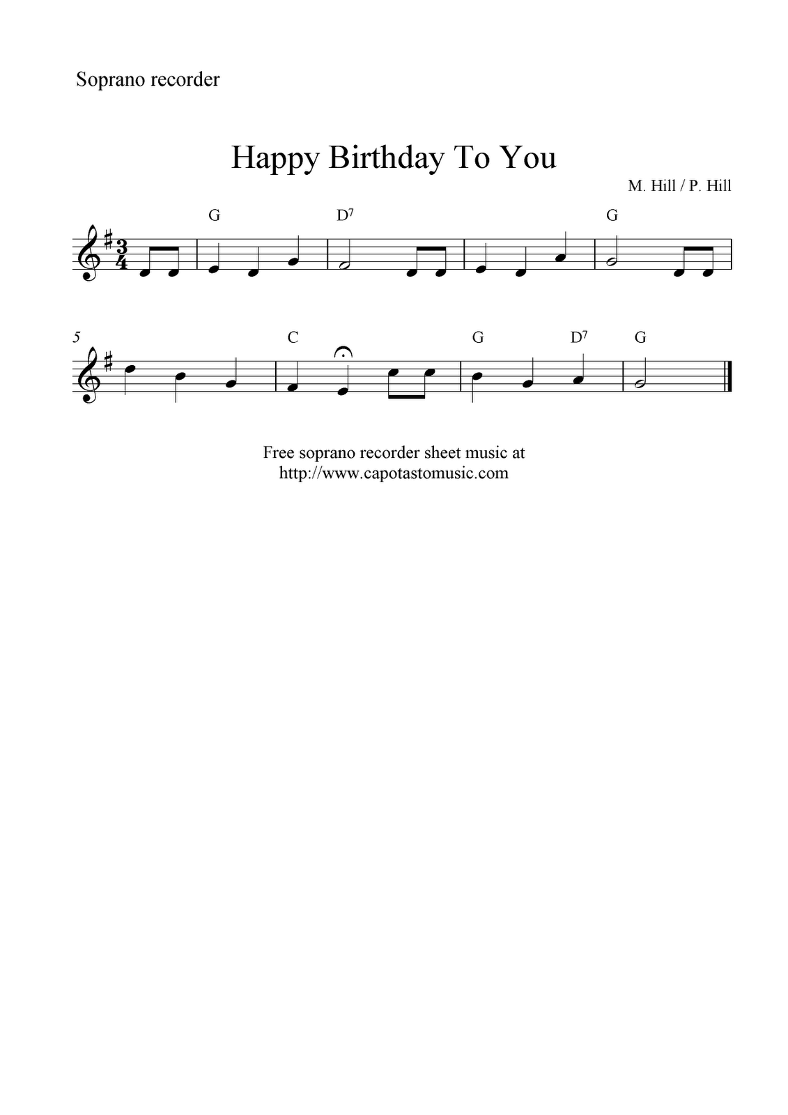 Happy Birthday Song Sheet Music With Letters