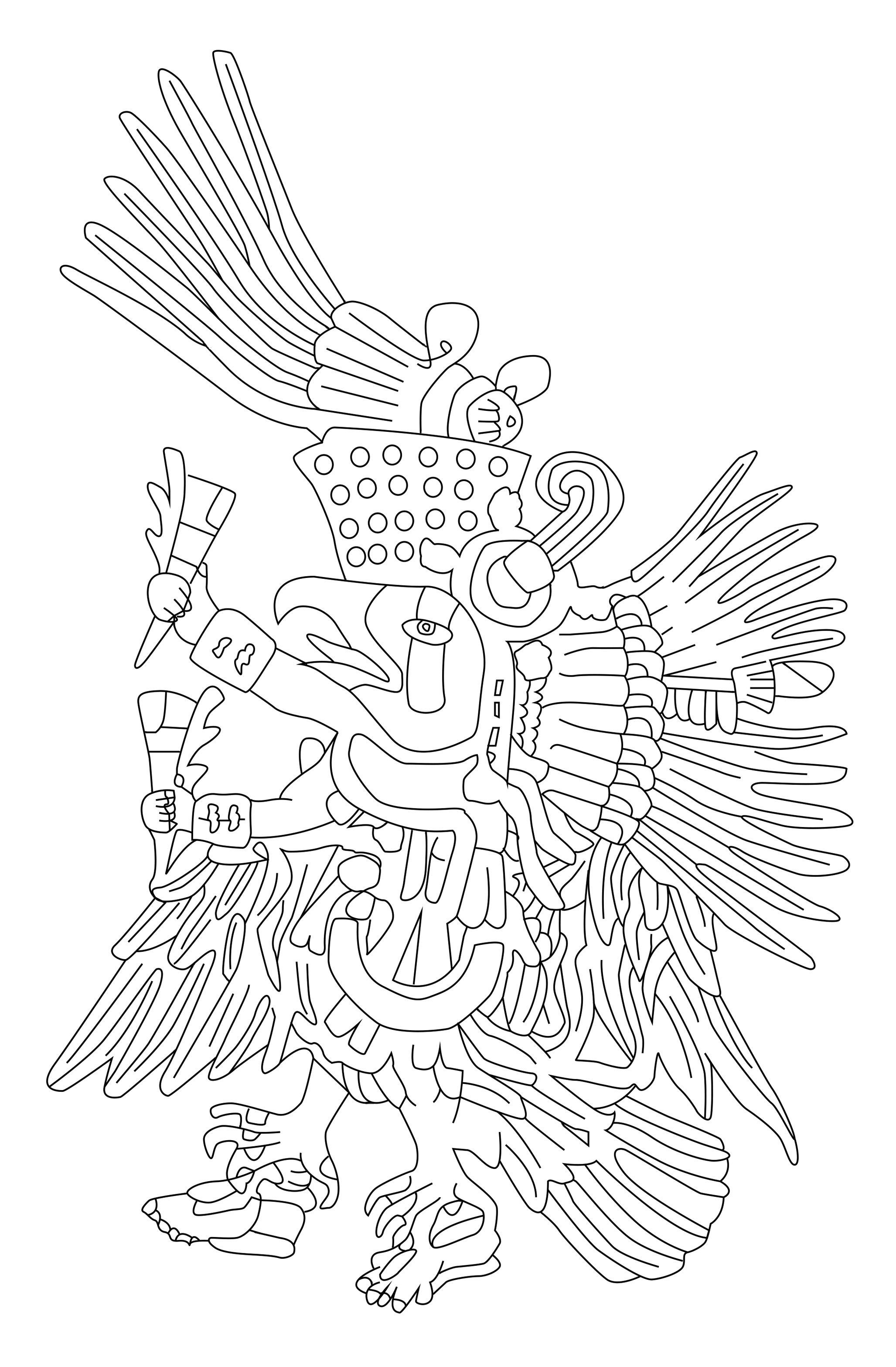 Quetzalcoatl is a Mesoamerican deity whose name comes from