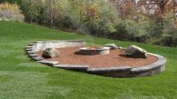 Natural fire pit area built into a slope. | Garden ...