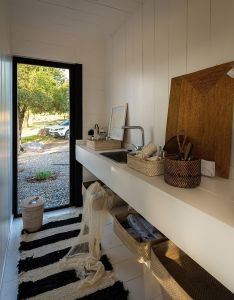 Adaptive design shipping container turned into  stylish sales gallery also rh pinterest