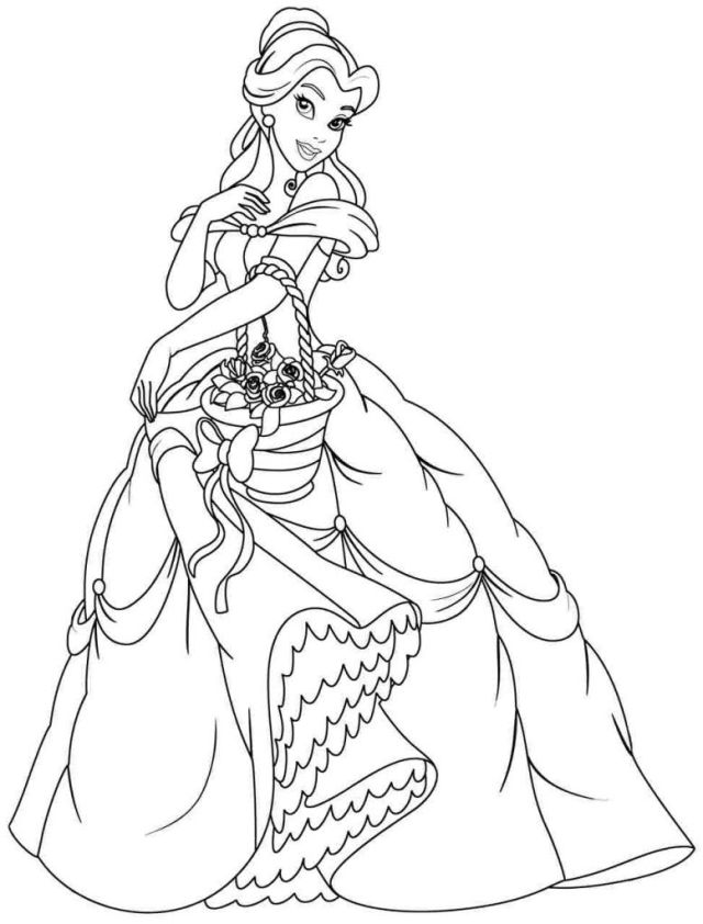Princess Belle Printable Coloring Pages  Coloring and Malvorlagan