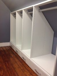 designs for narrow closets with slanted ceilings - Google ...