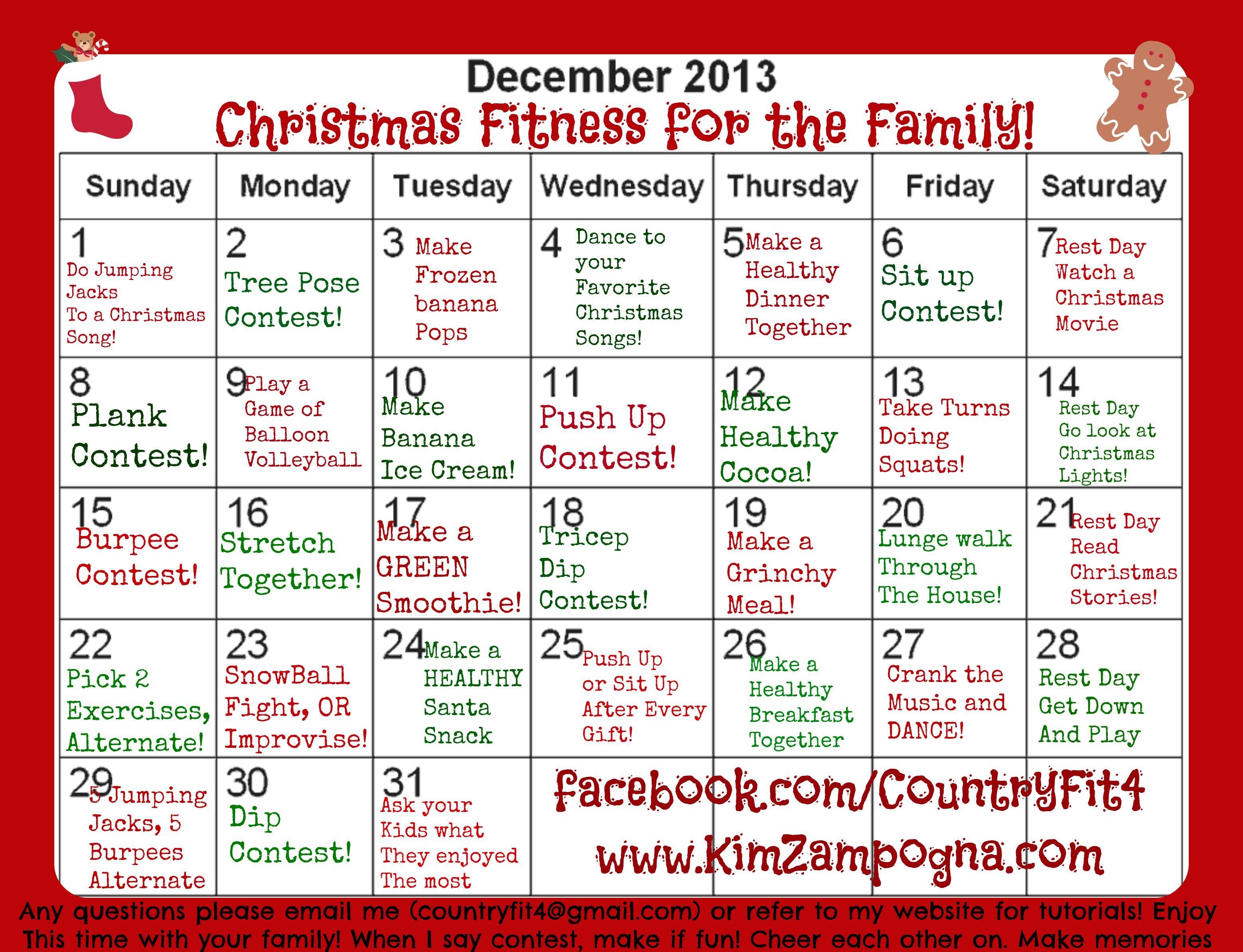 Christmas Family Fitness Challenge