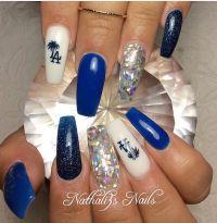 Dodgers Nails | Nail game | Pinterest | Dodger nails ...