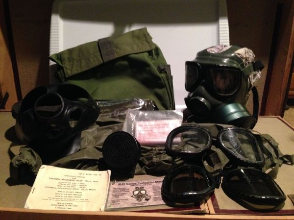 Pin Caleb Grother Gas Mask Military Gear