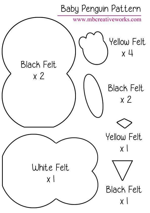large penguin cut out pattern