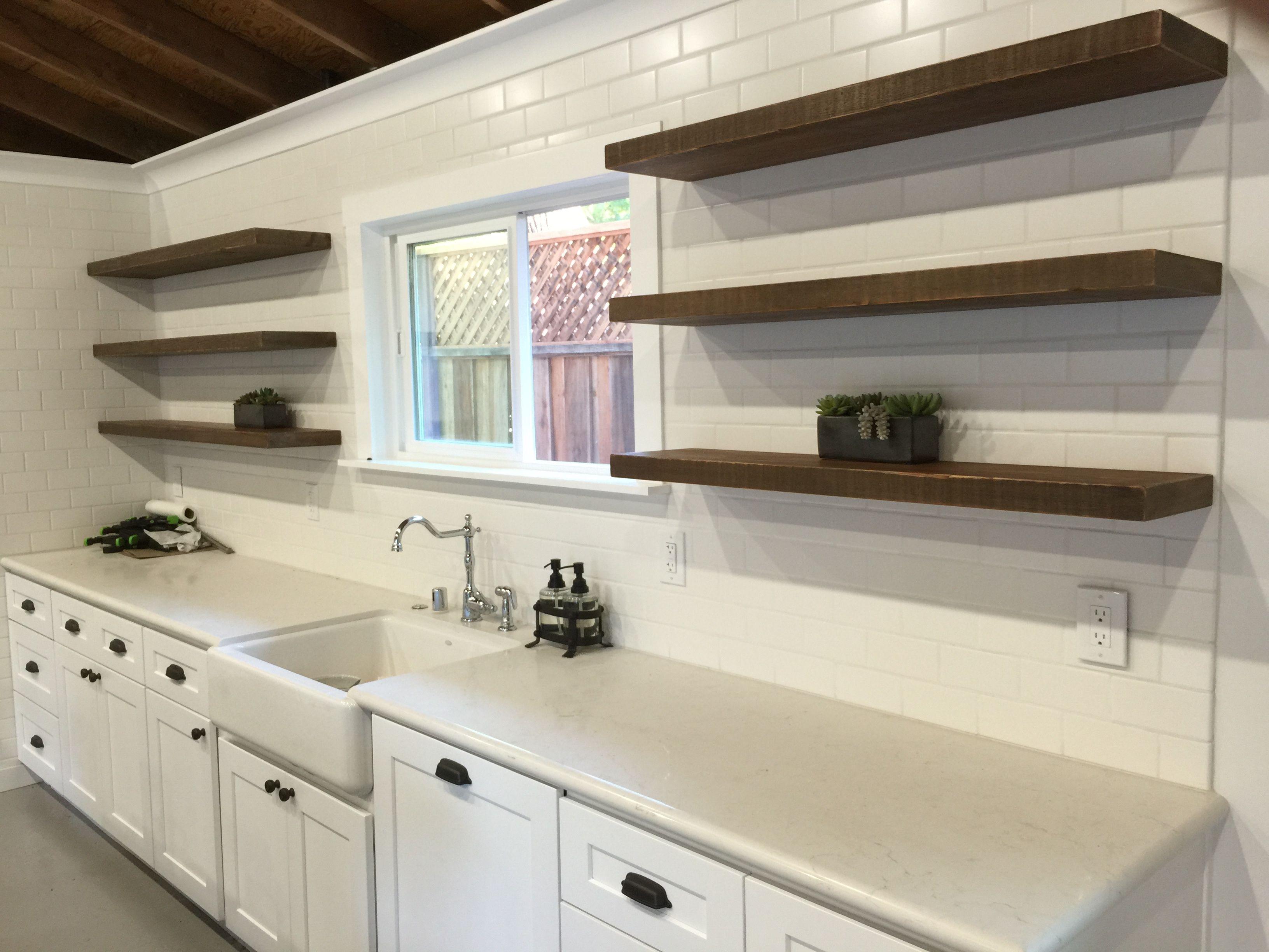 Interchangeable floating shelves  Alex Slarve  kitchen