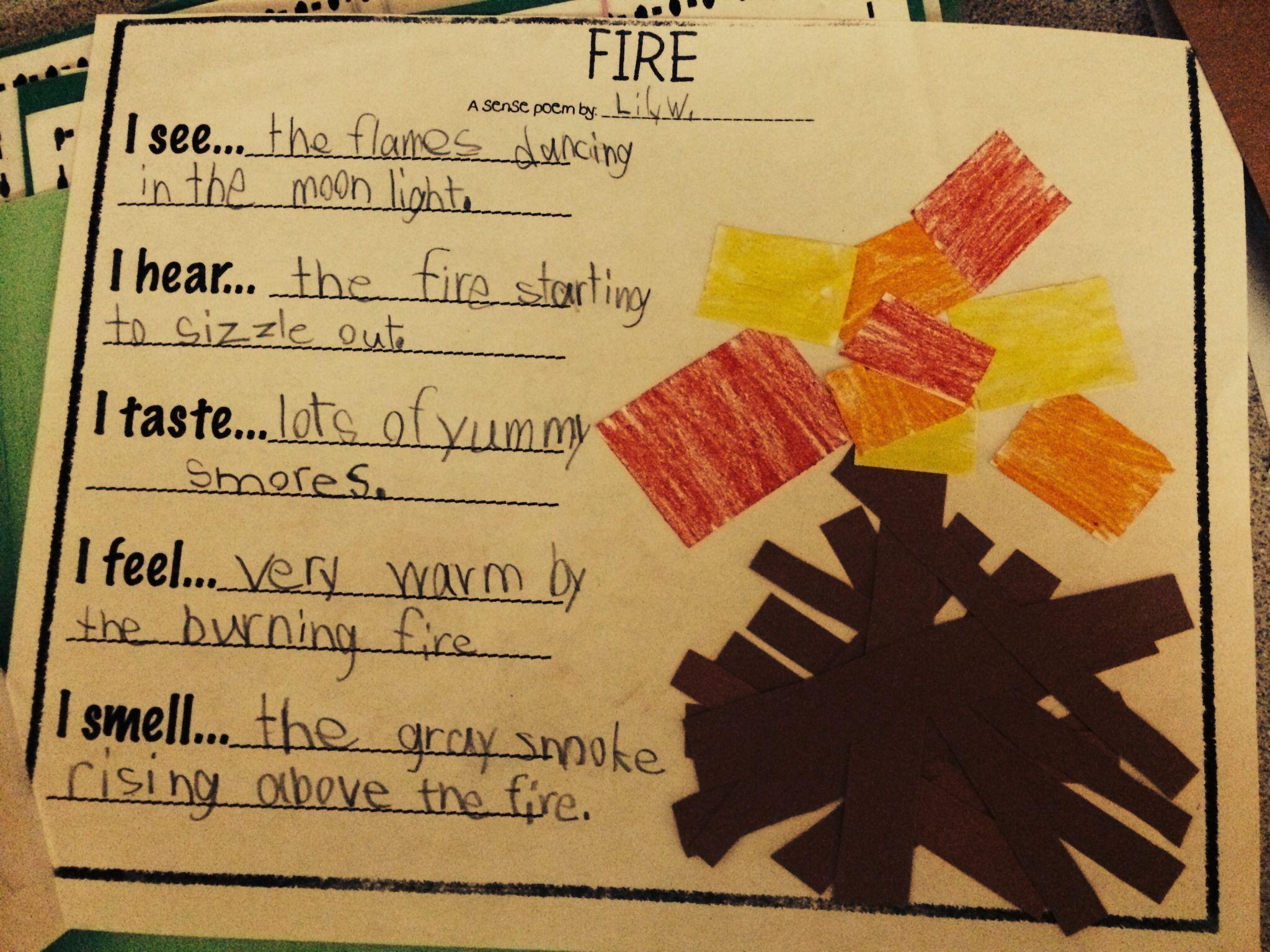 Fire Sense Poem