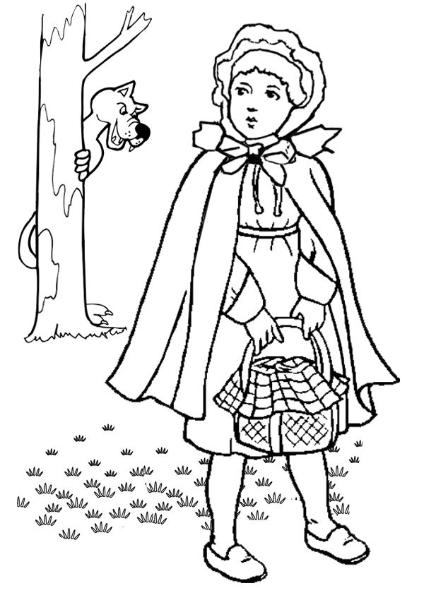 Free Little Red Riding Hood Colouring Page Plus More Than 150 Online