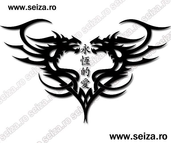 dragons tattoo heart tattoo