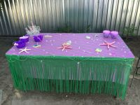 Table decorations little mermaid | Mermaid Party Ideas ...