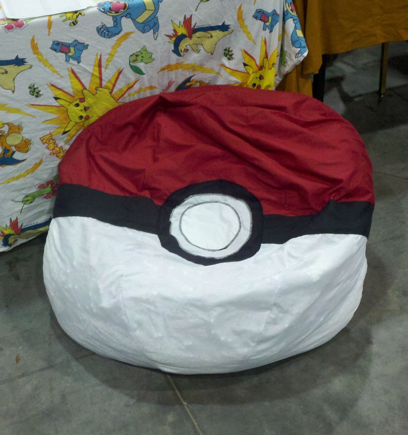 Bean Bag Chair Cover Pokeball Bean Bag Chair Cover 100 00 Via Etsy I Nerd