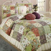 Blooming Prairie Cotton Patchwork Quilt Set Bedding ...