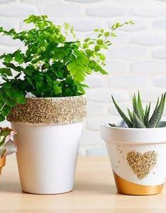 Painted glittered or tiered diy planters that inspire also mom   th rh pinterest
