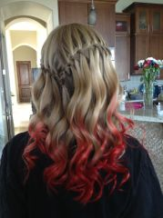 #red ombr #hair #kool aid dip