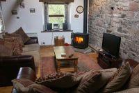 Living Room-wood stove on Pinterest | Corner Wood Stove ...