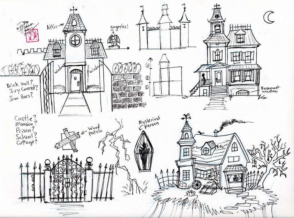 Draw A Haunted House By Diana Huang On DeviantART Learn To Draw