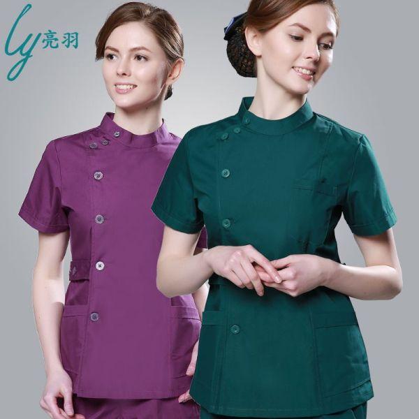 2016 Summer women hospital medical scrub clothes set