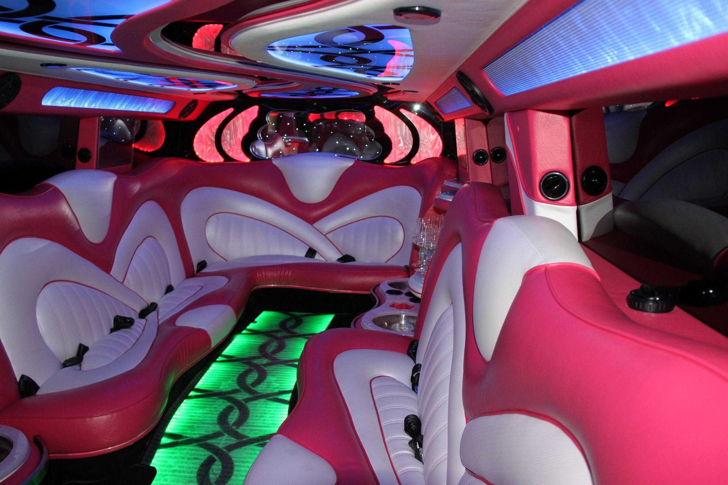 Showtime Limousines pink hummer perth interior