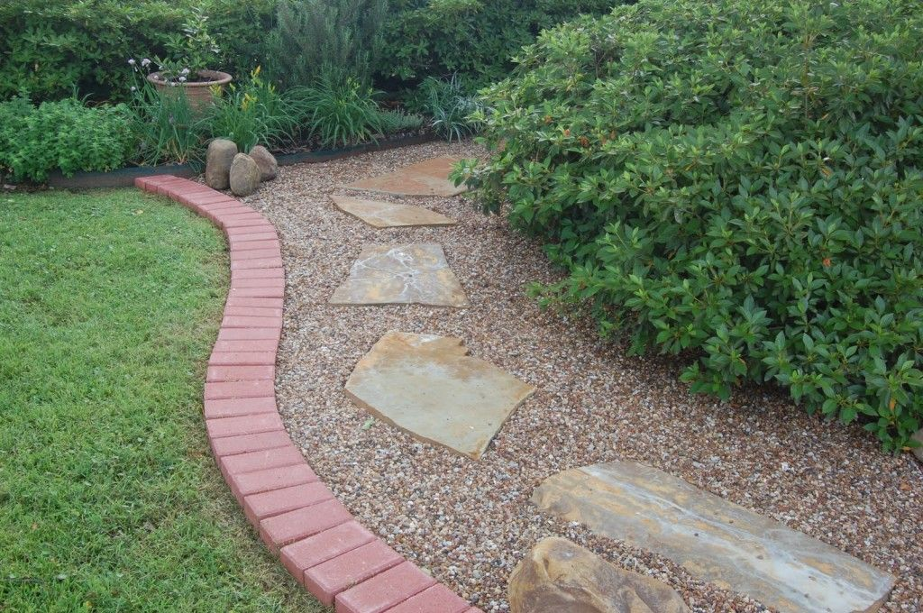 Pea Gravel Patio Bricks Around Perimeter? Combination Of Bricks