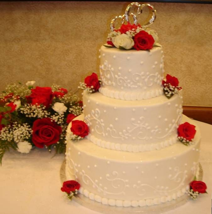 Simple Buttercream Wedding Cakes  Simple Buttercream Wedding Cake  ohumannet  Wedding stuff