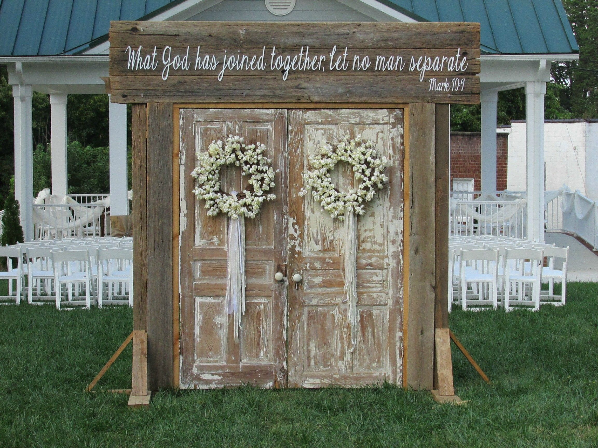 Vintage Barn Doors Backdrop