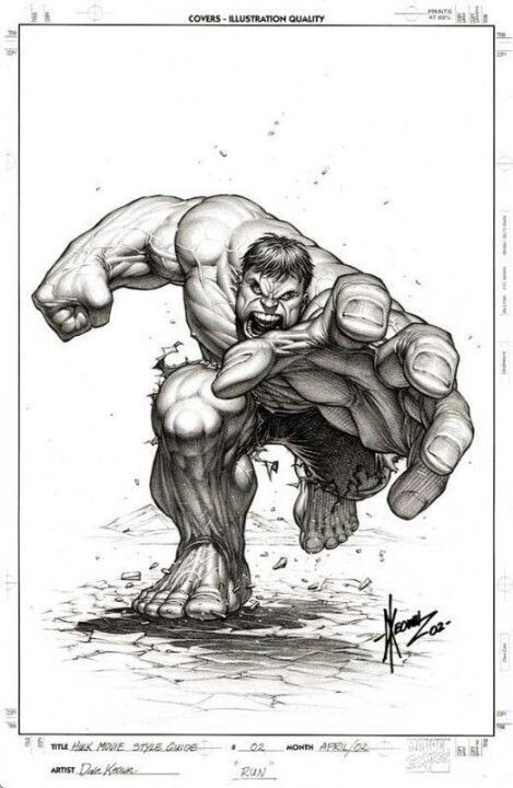 #Hulk #Fan #Art. (HULK MOVE STYLE GUIDE) By: DALE KEOWN
