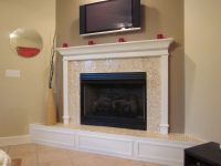 Delightful fireplace design with flush hearth plus horse ...