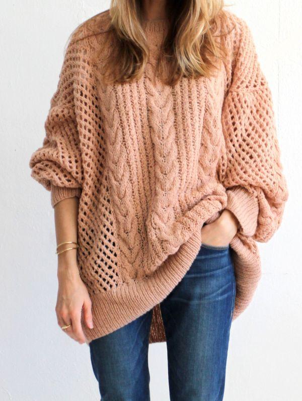 Womens Oversized Cashmere Sweater