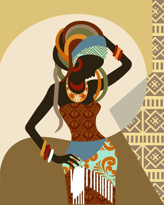 African woman wall art decor black print south designs also rh pinterest
