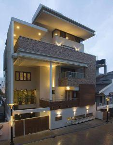 Elegant modern residential house in india also elevation pinterest rh uk
