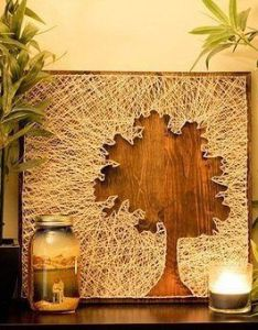 Tree silhouette string art by fortheloveco on ets  new craft for aaron who has all the patience in world also pin christina regerstumpf ideen rund ums haus pinterest rh