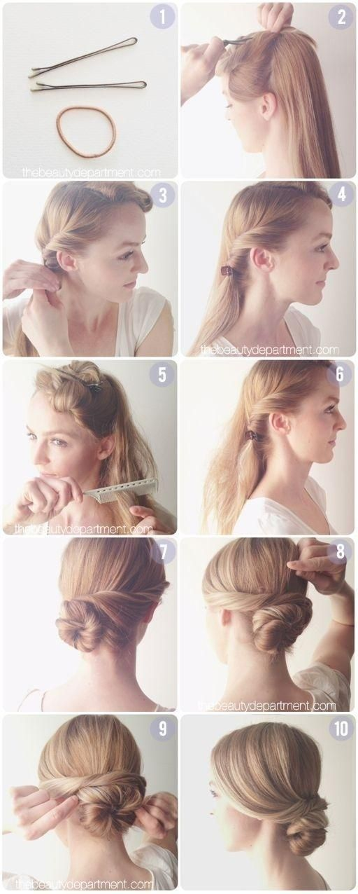 Everyday Hairstyles Tutorial Easy Low Chignon Bun Formal' Low