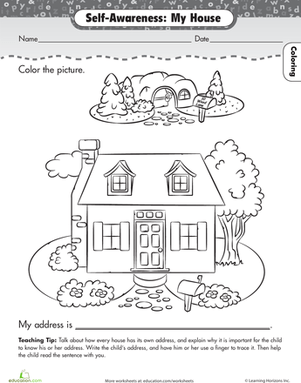 House With Rooms Coloring Pages Sketch Coloring Page