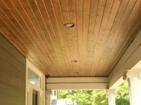 beaded vinyl soffit and porch ceiling