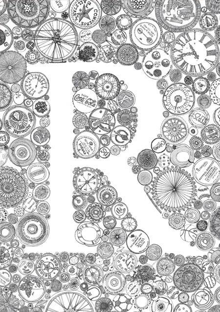 R By Kate Bragan Buchstaben Zentangle Und Kreativitt