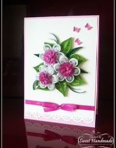 Fuchsia quilling cardsquilling flowerspaper also nelika pinterest rh za