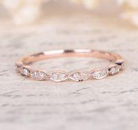 Pave Diamond Wedding Band Half Eternity Anniversary Ring ...