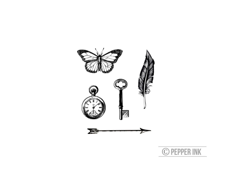 Vintage Tiny Tattoos