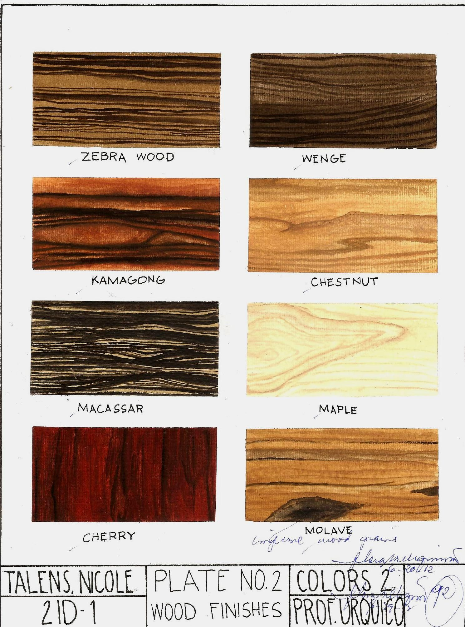 Subject Colors 2 Rendering Wood Finishes Watercolor On 8