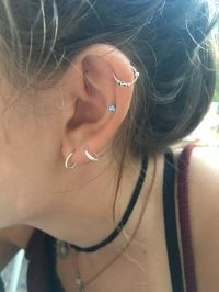 Sterling Silver Hoop Ring Earring for Cartilage Helix ...