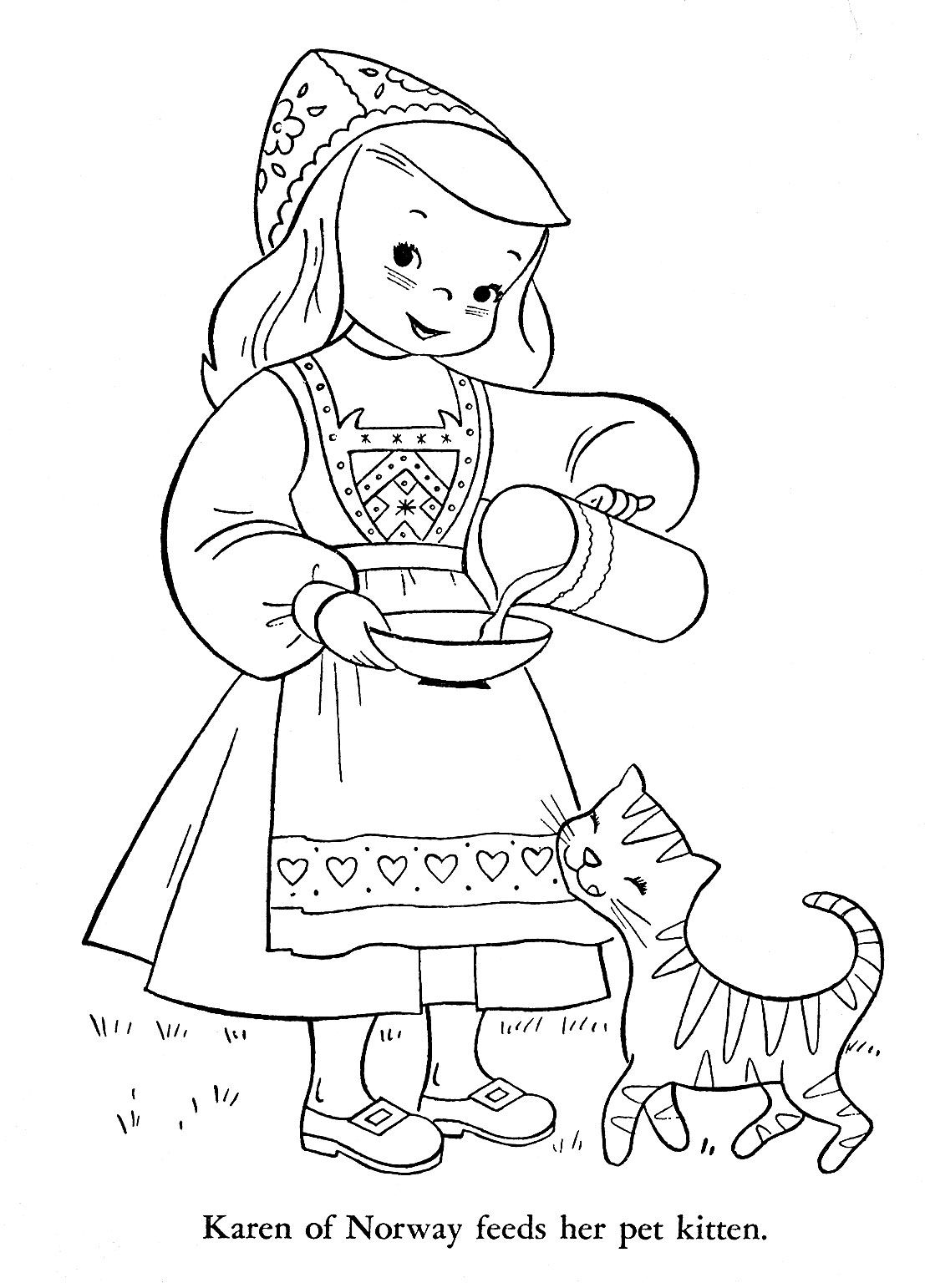Top Girl Scouts Around The World Coloring Pages