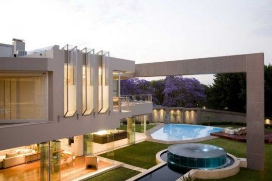 Glass Homes Modern Open Plan Glass House Design In Johannesburg