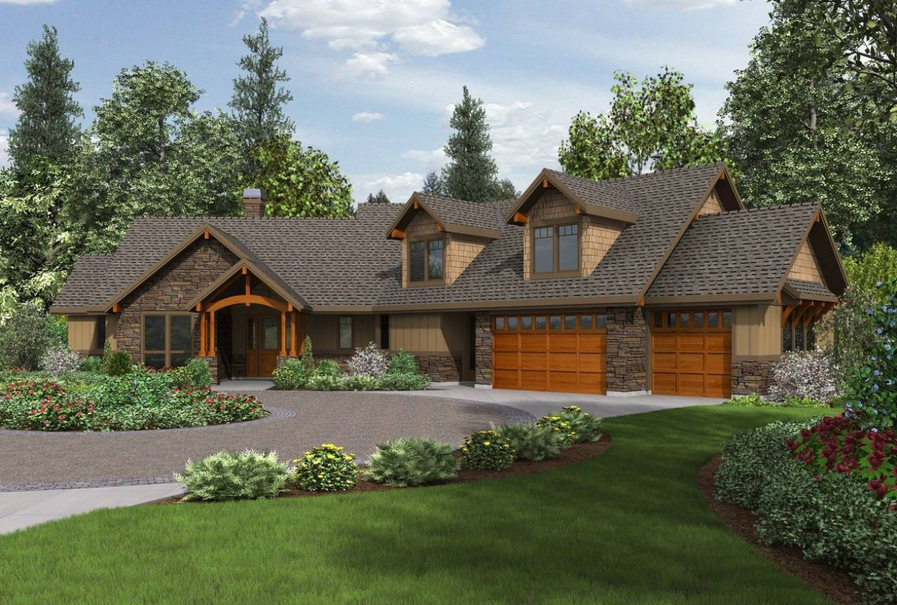 Craftsman Ranch House Plans With Walkout Basement Residential
