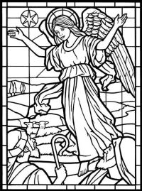 Adult Coloring Page from Amazing Angels Stained Glass ...