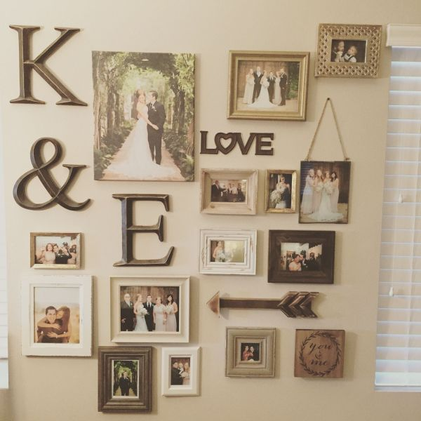 Wall Of Wedding Collage Ideas