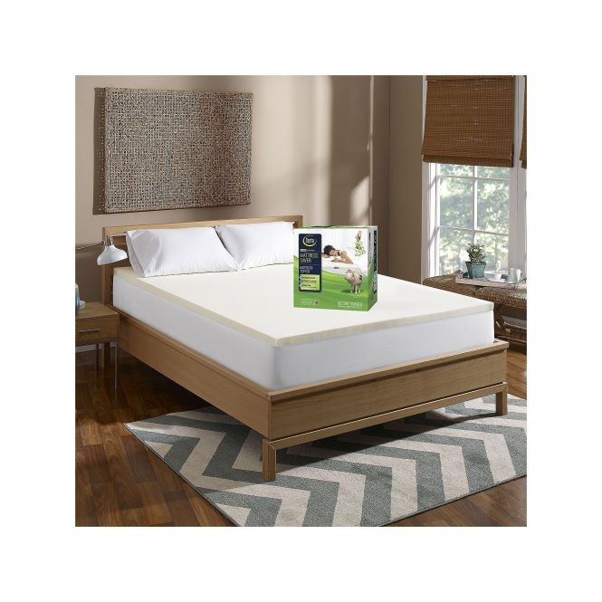 Serta 1 5 Inch Mattress Saver Memory Foam Topper White