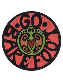 Barefoot Hippie Sticker