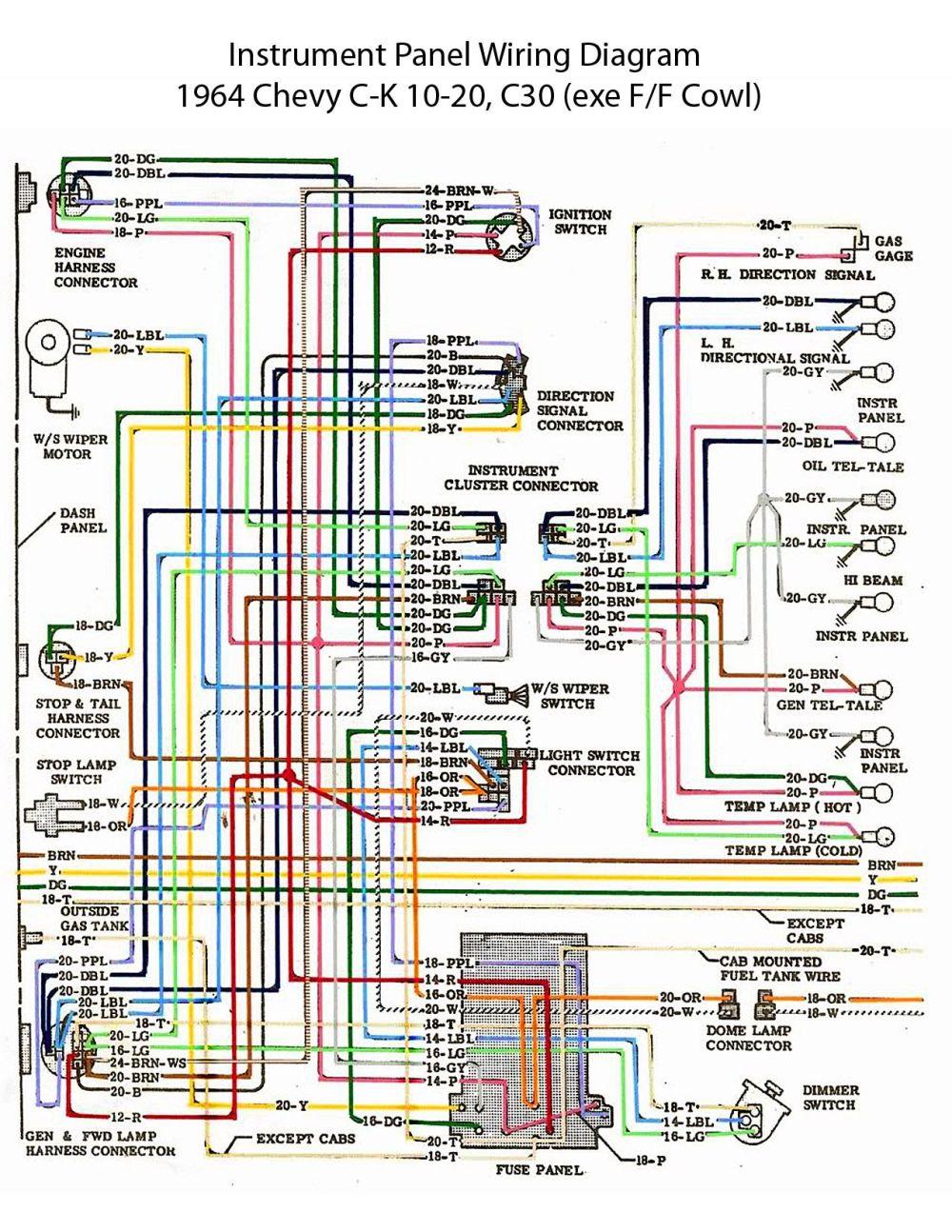 medium resolution of 29f907bf017db832106977dbff5b5b31 64 chevy c10 wiring diagram chevy truck wiring diagram 64 2004 silverado tail light wiring